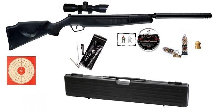 Carabine STOEGER X20S Synthétic SUPPRESSOR S2 ''lunette STOEGER 4x32'' Pack Luxe avec mallette