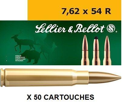 Sellier & Bellot cal.7.62x54 R FMJ 180 grains - 11.7 grammes /50