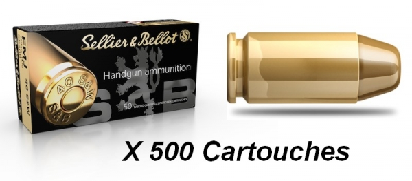 SELLIER BELLOT cal.40 S&W FMJ / 500 cartouches