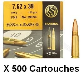 SELLIER BELLOT cal.7,62x39 FMJ /500 cartouches