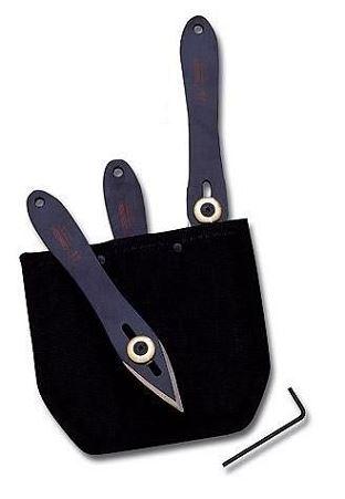 Set Couteaux � lancer CUDEMAN NOIR 15 cm