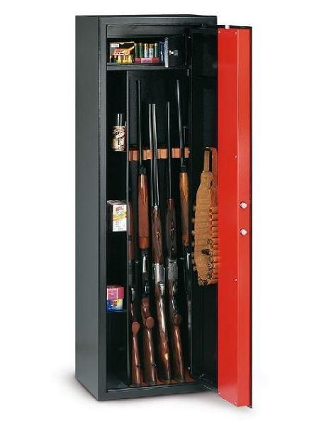 Armoire � fusils T/705R - 5 armes (coffre int�rieur et compartiments lat�raux)