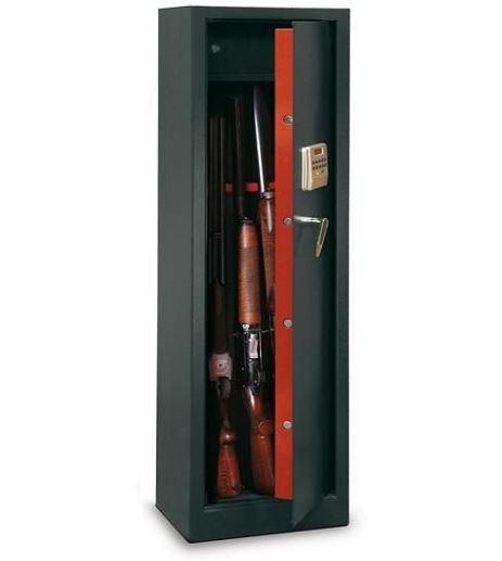 Armoire à fusils TCE/10 - 10 armes avec lunettes (coffre intérieur et serrure électronique)