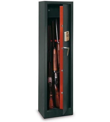 Armoire � fusils TCE/5 - 5 armes (coffre int�rieur et serrure �lectronique)