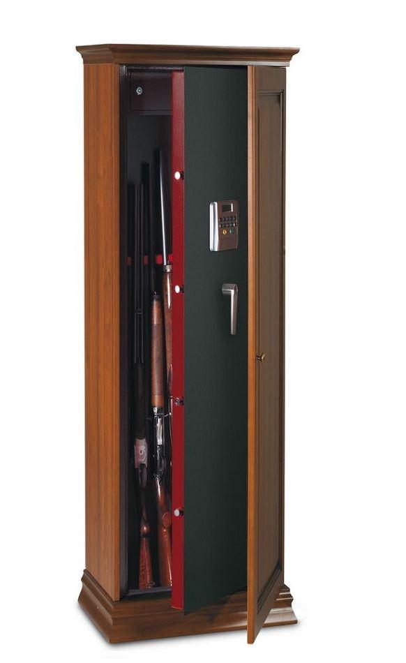 Armoire � fusils TCE/5L - 5 armes (coffre int�rieur et serrure �lectronique)