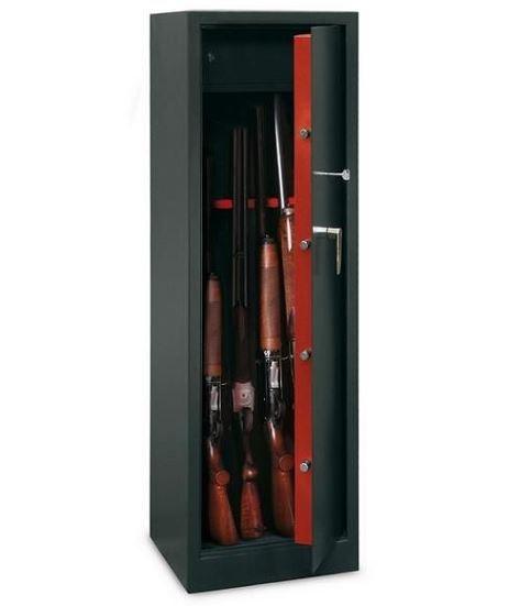 Armoire à fusils TCH/10 - 10 armes avec lunettes  (coffre intérieur)