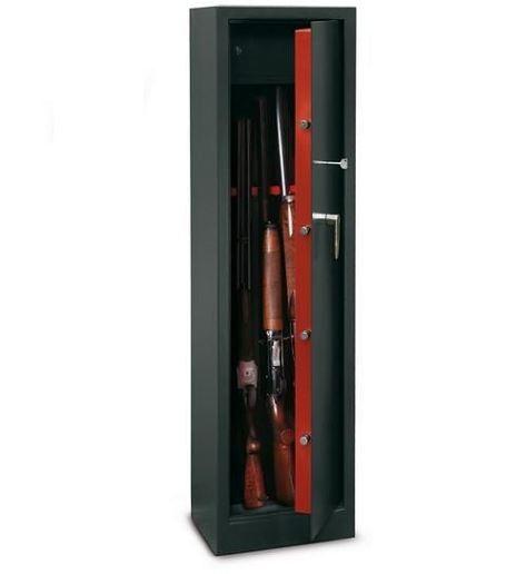 Armoire à fusils TCH/5 - 5 armes (coffre intérieur)