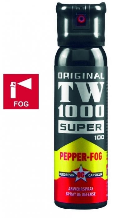 """Bombe lacrymogène TW1000 PEPPER FOG Super 100 """"Gel Poivre"""" 100 ml"""