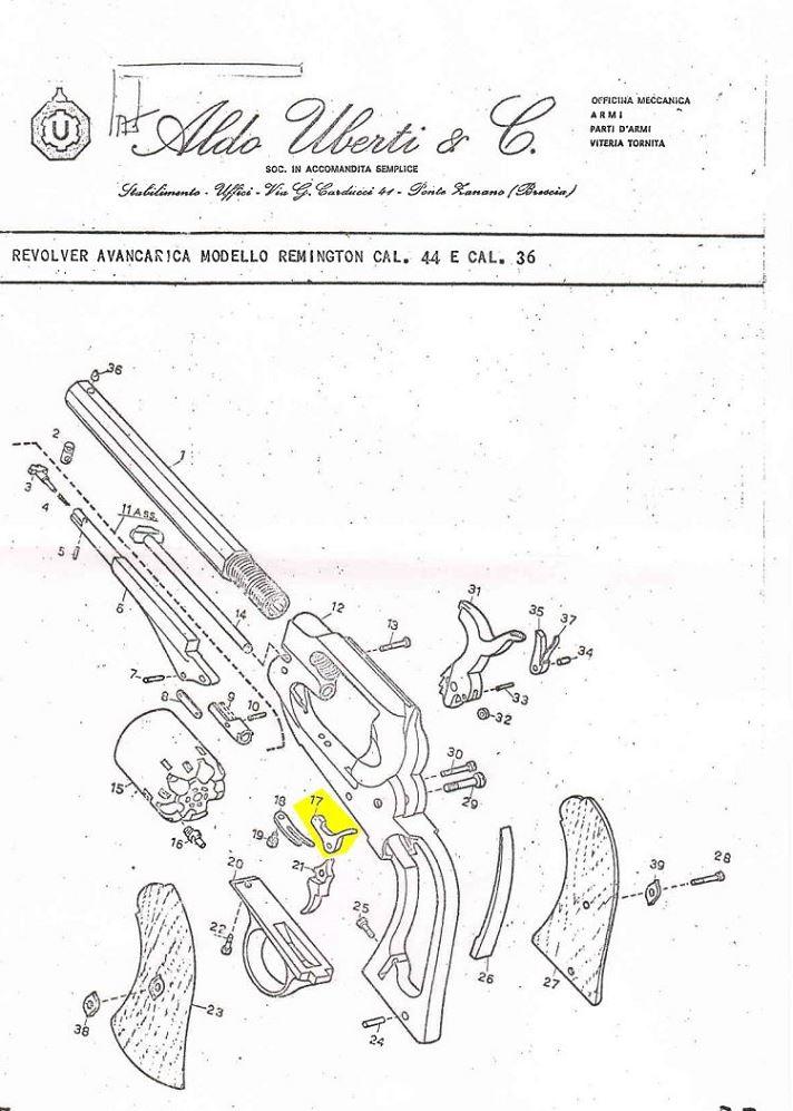 Verrou (arretoir) de barillet UBERTI Remington
