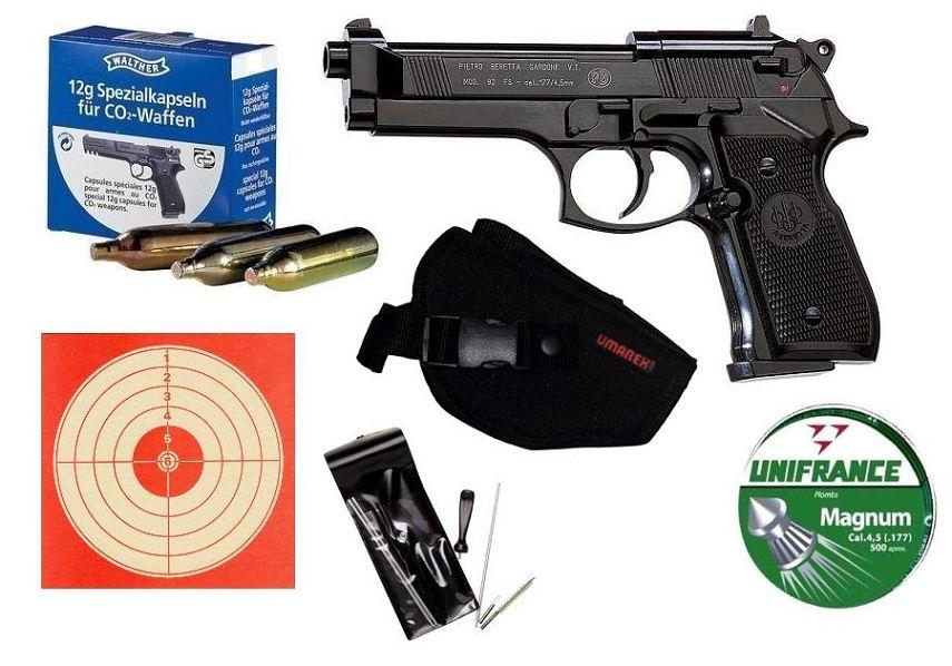Pistolet BERETTA 92 FS 5'' Pack LUXE UMAREX cal. 4.5mm