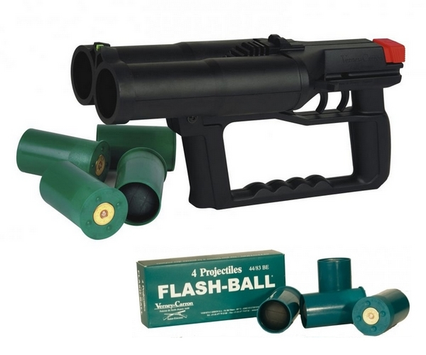 Pistolet Flash-Ball VERNEY-CARRON F101 avec 8 cartouches