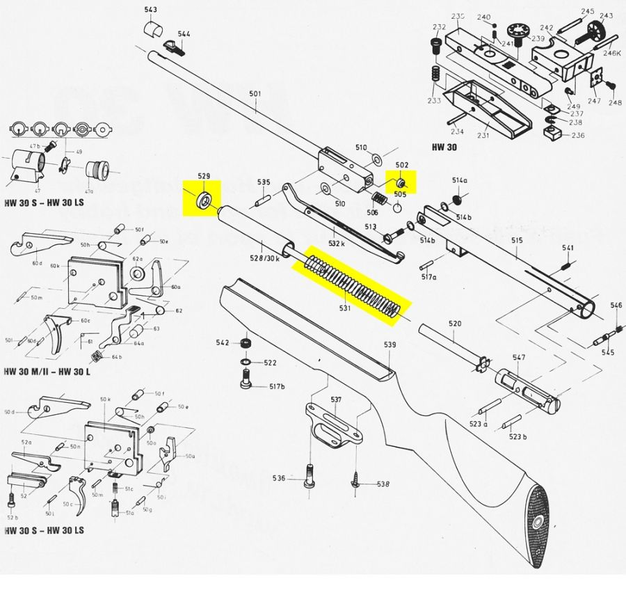 kit de compression WEIHRAUCH carabine HW30