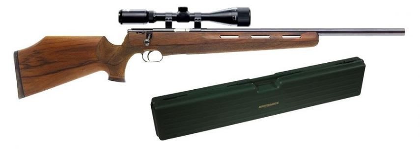 Carabine WEIHRAUCH HW 66 Jagd Match cal.222 Rem ''Kit mallette et Lunette Lynx Varmint 6-24x42 AO''