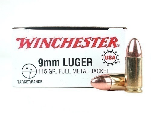 WINCHESTER cal.9 mm PARA FMJ