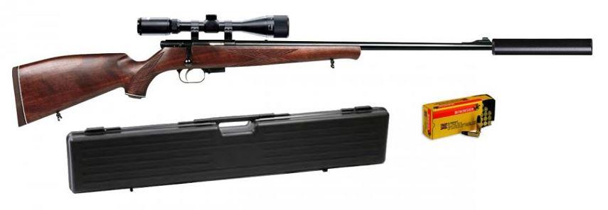 Carabine 22LR WEIHRAUCH HW 60 J ''Pack Silence HAWKE Varmint 6-24x44 Mildot''