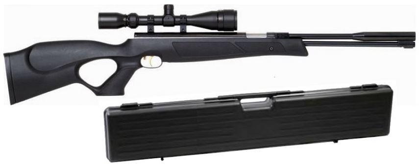 Carabine � air comprim� WEIHRAUCH HW 97 Black Line ''lunette HAWKE Varmint 4-16x44 mildot et mallette ABS''