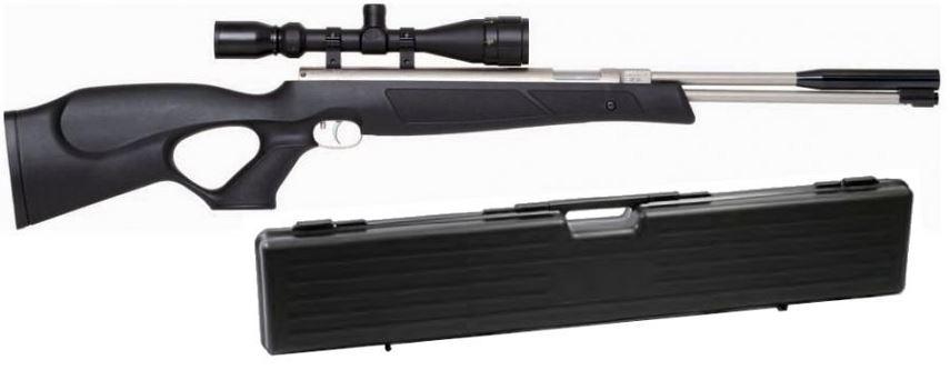 Carabine � air comprim� WEIHRAUCH HW 97 Black Line Stainless ''lunette HAWKE Varmint 4-16x44 mildot et mallette ABS''