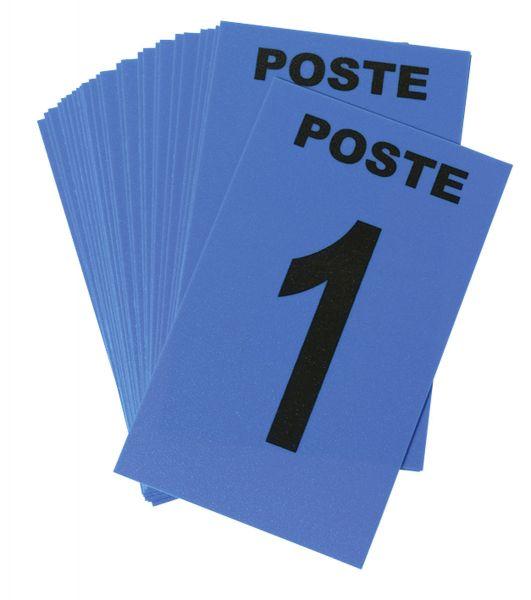 Cartes de Poste Numérotées 6 x 10 cm - Bleu (paquet de 24)