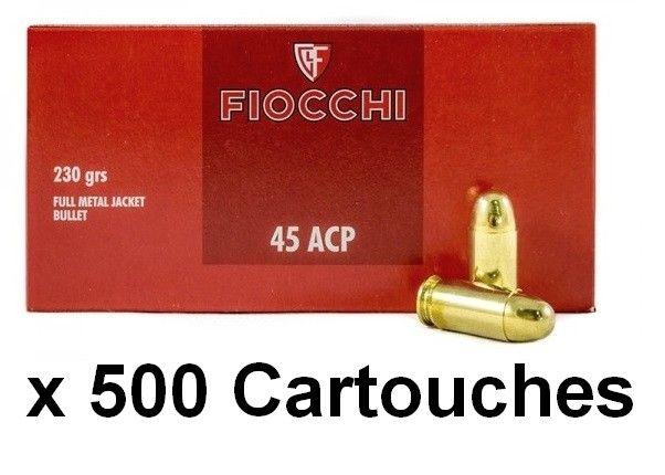 FIOCCHI cal.45 ACP FMJ /500 cartouches