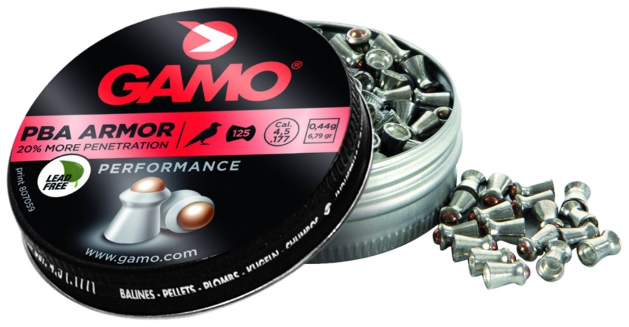 Plombs 4.5 Gamo ARMOR PBA Piercing (0.45gr) x125