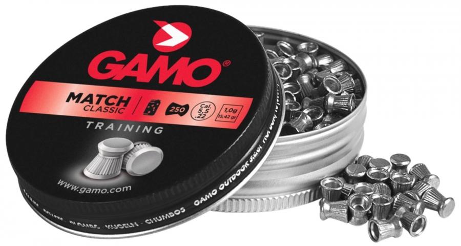 Plombs cal.5,5mm Gamo MATCH Classic (0.9gr) x250