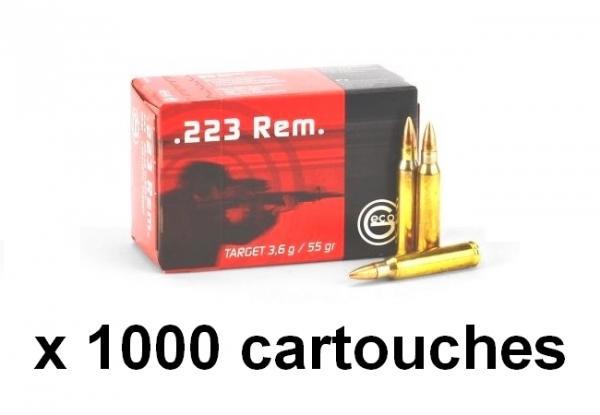 GECO cal.223 Rem Target FMJ VM 55gr / 1000 cartouches
