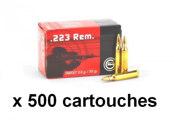 GECO cal.223 Rem Target FMJ VM / 500 cartouches