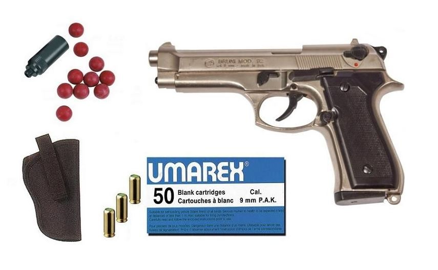 Kit D�fense Pistolet BRUNI 92 Nickel� Cal.9mm PA