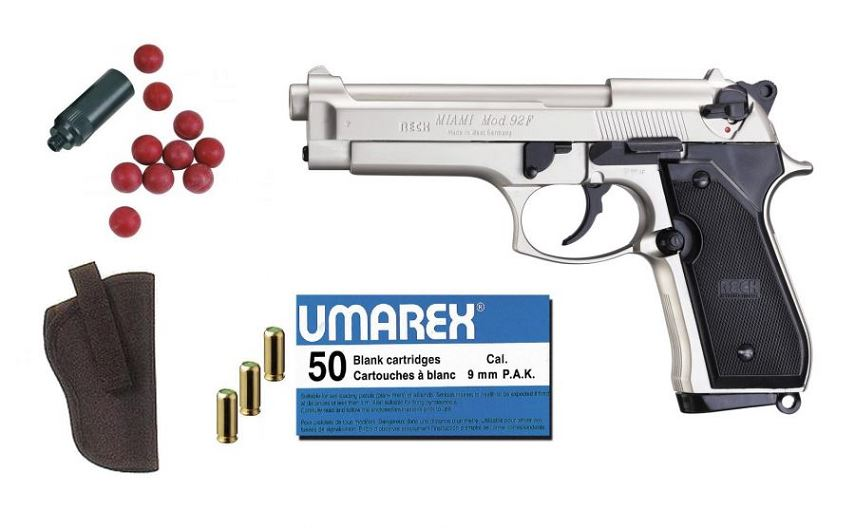 Kit D�fense RECK BERETTA 92F Miami Nickel� cal.9mm PA UMAREX