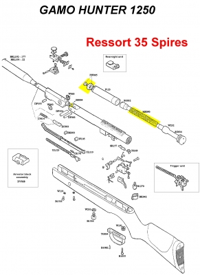 Kit de compression GAMO HUNTER 1250 (35 spires)