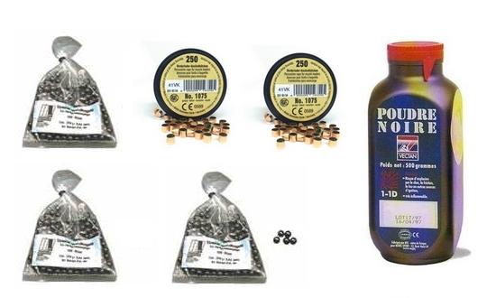 Kit cal.44 Poudre noire PNF2 - 300 balles HN 454 - 500 amorces cannel�es