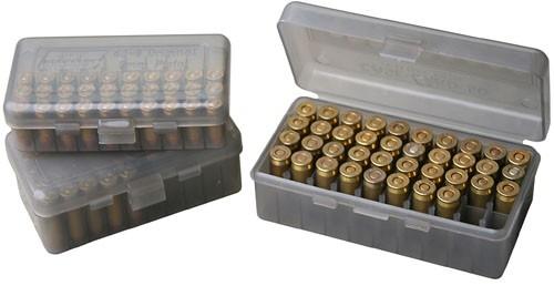 Boite à munitions MTM 50 cartouches cal.9mm Para