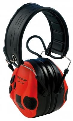 Casque antibruit Electronique PELTOR Sport Tac (rouge-noir)
