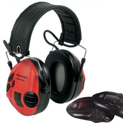 Casque antibruit Electronique PELTOR Sport-Tac (rouge-noir)