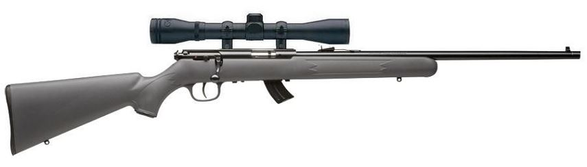 Carabine 22LR SAVAGE STEVENS 300F Synthétique avec lunette BAUER 3-9x40