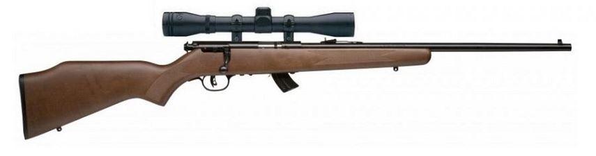 Carabine 22LR SAVAGE STEVENS 300GTB Bois avec lunette BAUER 3-9x40