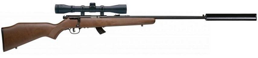 Carabine 22LR SAVAGE STEVENS 300GTB Bois avec lunette BAUER 3-9x40 et silencieux STILL N�3