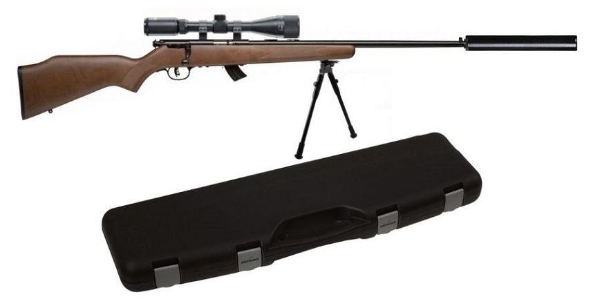 Carabine 22LR SAVAGE STEVENS 300GTB Bois ''Kit SNIPER'' avec lunette LYNX Varmint 6-24x42 AO