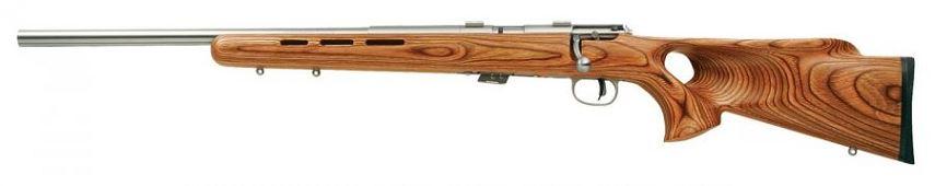 Carabine 22LR SAVAGE Varmint Lamell� Thumbhole Stainless MARK II BTVLSS ''GAUCHER''