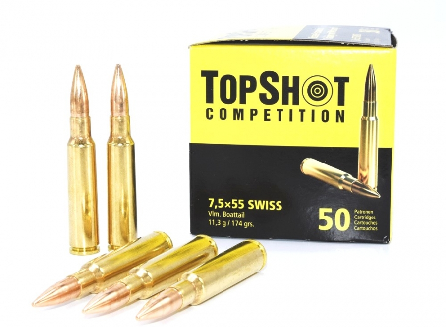 TOP SHOT Competition cal.7.5x55 Swiss FMJ (50 cartouches)