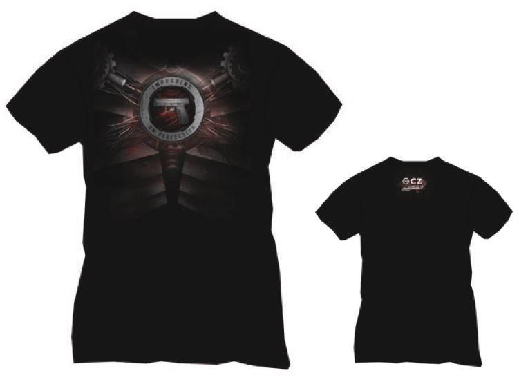 T-Shirt noir CZ P-10 C Taille. L