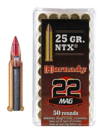 HORNADY cal.22 Magnum NTX 25gr /50