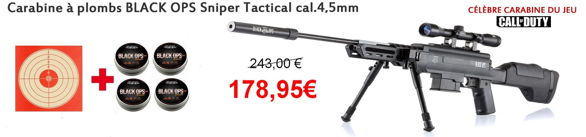 Carabine a plombs BLACK OPS Sniper Tactical cal.4,5mm