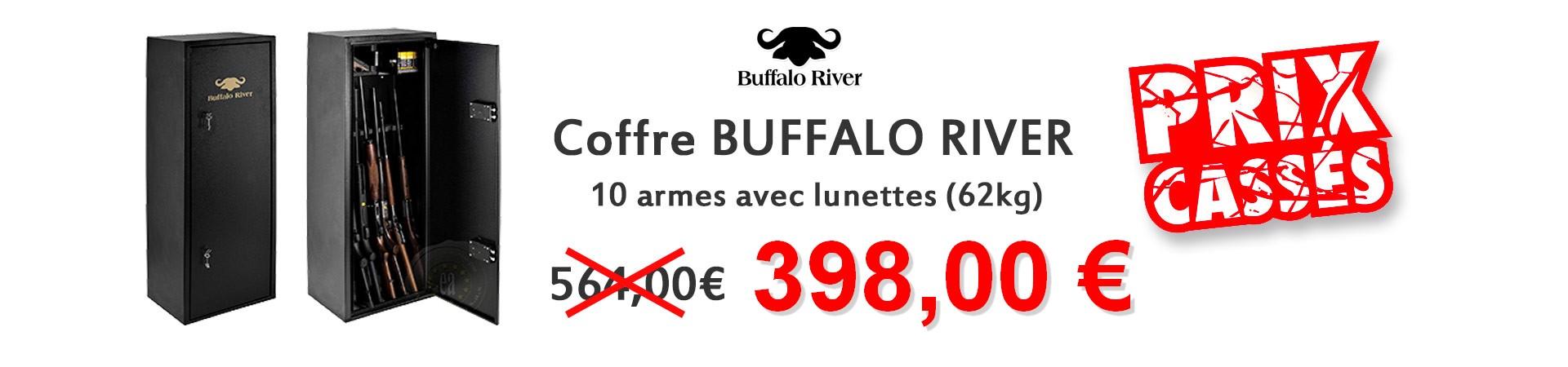 Coffre BUFFALO RIVER 10 armes avec lunettes