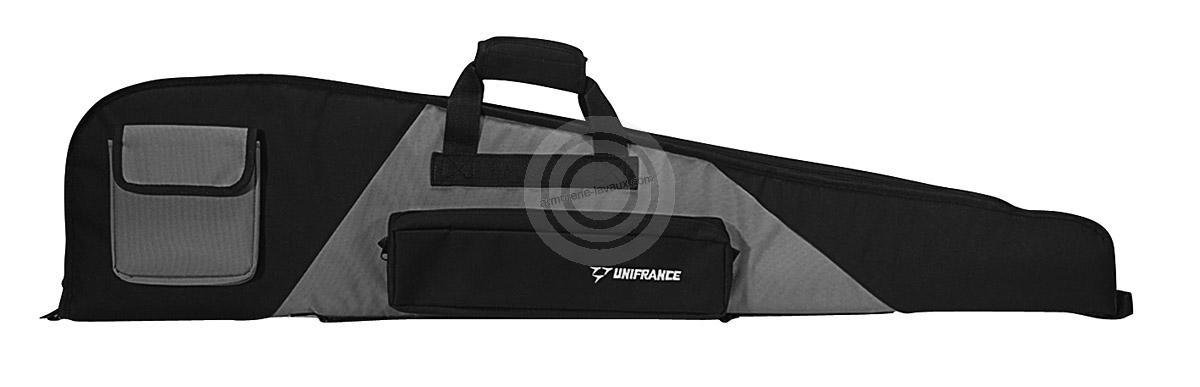 Housse pour arme avec lunette UNIFRANCE grise 116 cm
