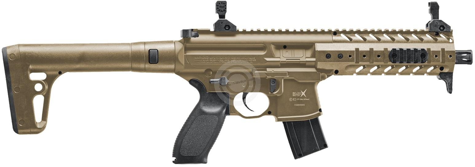 Carabine Co2 SIG SAUER MPX FDE Cal.4,5mm