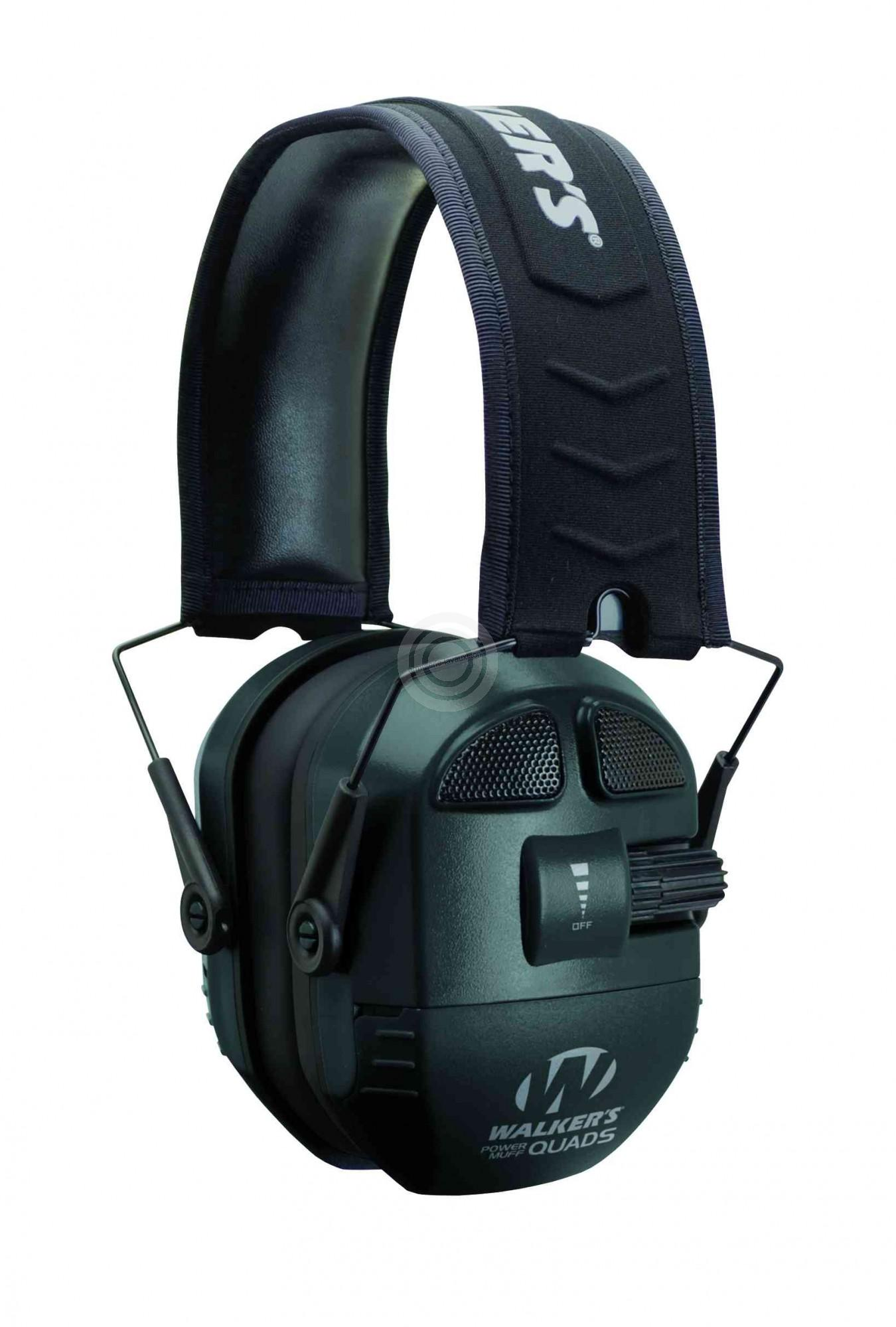 Casque électronique WALKER'S Ultimate Power Muff Quads Noir 360