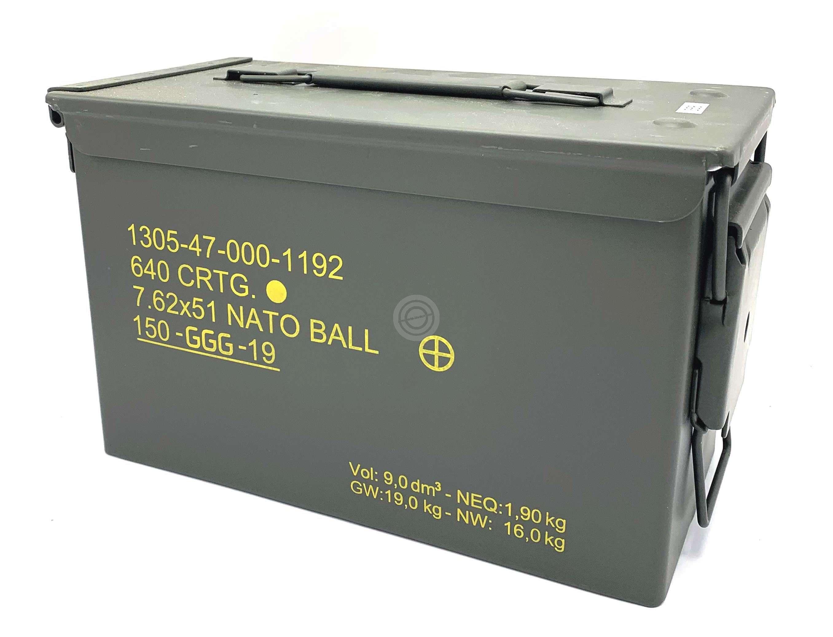 Caisse de militaire métallique GGG