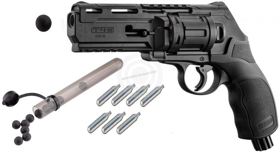 Revolver 6 coups WALTHER T4E HDR 50 cal.50 (11 joules) ''UMAREX'' Pack Défense