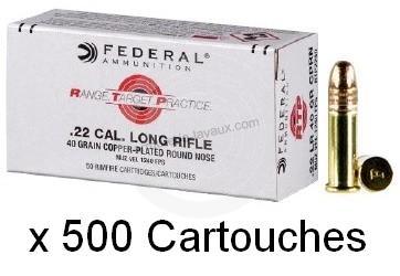 FEDERAL 22lr Range Target Practice /500